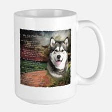 """Why God Made Dogs"" Malamute Large Mug"