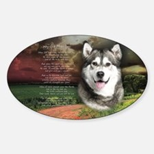 """""""Why God Made Dogs"""" Malamute Decal"""