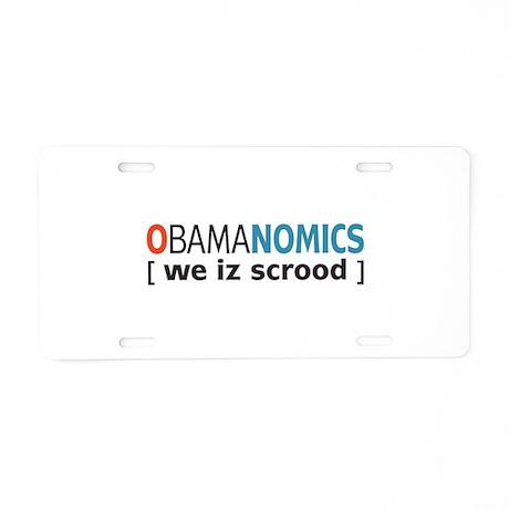 Anti - Obama Aluminum License Plate