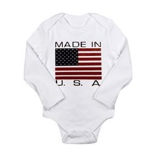 MADE IN U.S.A. Long Sleeve Infant Bodysuit