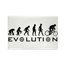 Evolution Of Bike Rectangle Magnet