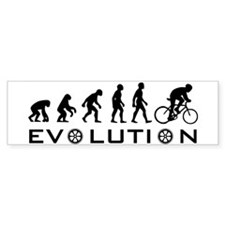 Evolution Of Bike Bumper Bumper Sticker