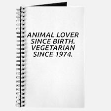 Vegetarian since 1974 Journal