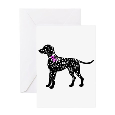 Dalmation Breast Cancer Suppo Greeting Card