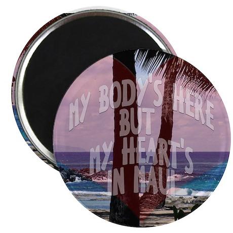 My Heart's On Maui Scene Magnet