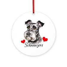 Schnauzers! Ornament (Round)