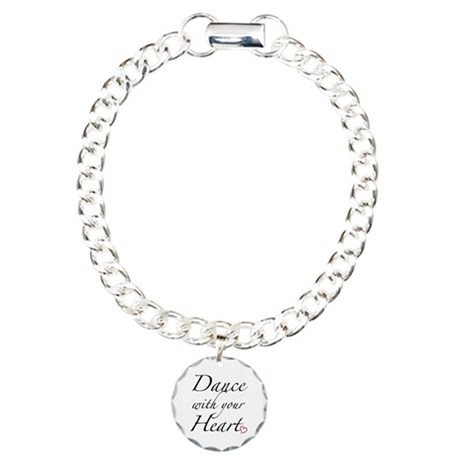 Dance with your Heart Charm Bracelet, One Charm
