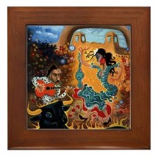 """""""Flamenco Garden"""" Framed Tile"""