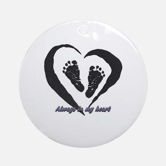 Miscarriage Round Ornament
