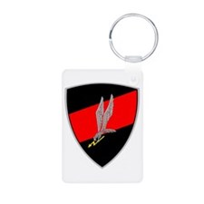 GROM - Red and Black Aluminum Photo Keychain