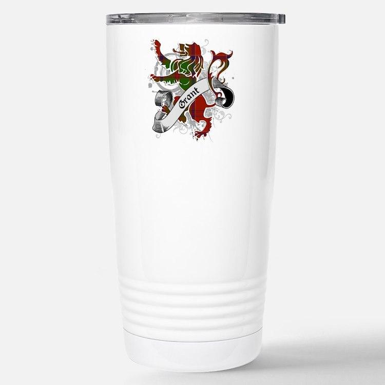 Grant Tartan Lion Travel Mug