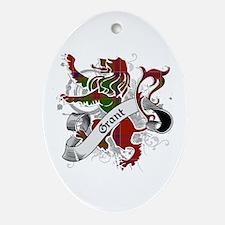 Grant Tartan Lion Ornament (Oval)