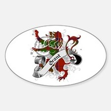 Grant Tartan Lion Sticker (Oval)