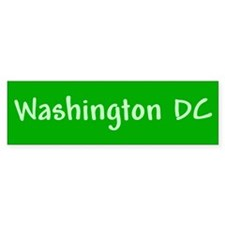 Washington DC (green) Bumper Bumper Sticker