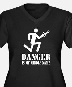 DANGER is my Middle Name! - Women's Plus Size V-Ne