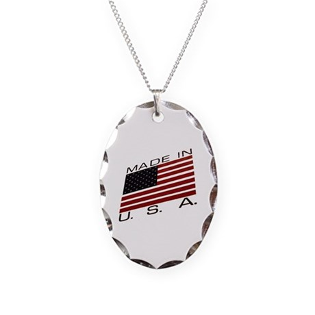 MADE IN U.S.A. CAMPAIGN IX Necklace Oval Charm