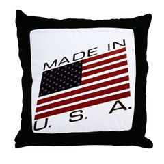 MADE IN U.S.A. CAMPAIGN IX Throw Pillow