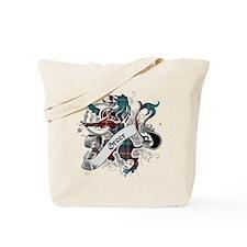 Greer Tartan Lion Tote Bag