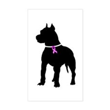 Pitbull Terrier Breast Cancer Decal