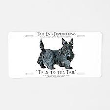 Scottie Logo Tail End Aluminum License Plate