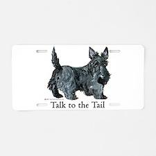Scottish Terrier Attitude Aluminum License Plate