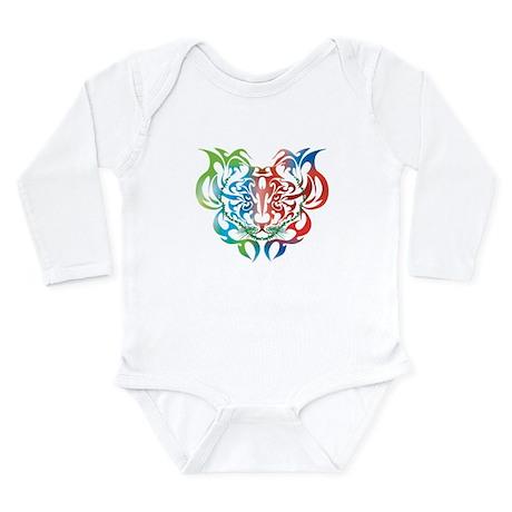 Fire Tiger Long Sleeve Infant Bodysuit