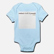 ranked #1 at 12 pounds Infant Bodysuit