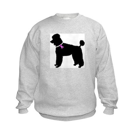 Poodle Breast Cancer Support Kids Sweatshirt