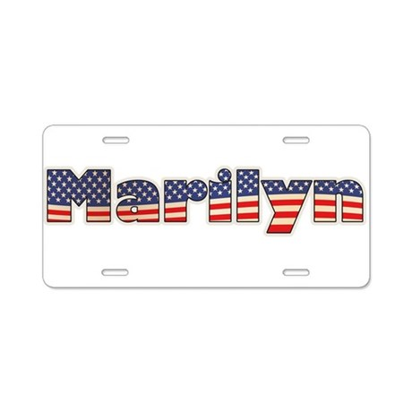 American Marilyn Aluminum License Plate