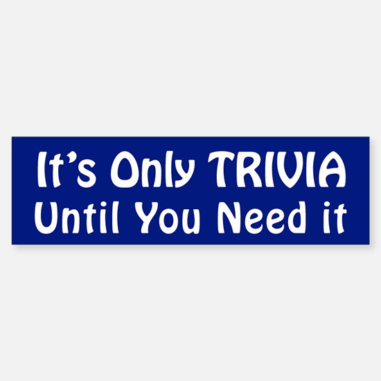 Cute Trivia buff Sticker (Bumper)