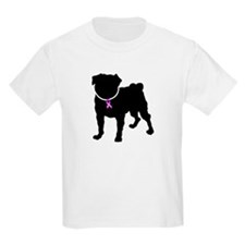 Pug Breast Cancer Support T-Shirt