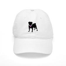 Pug Breast Cancer Support Baseball Cap