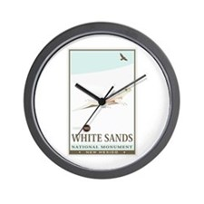 National Parks - White Sands 2 Wall Clock