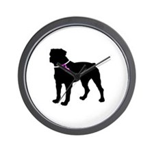 Rottweiler Breast Cancer Supp Wall Clock