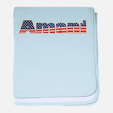 American Amani baby blanket