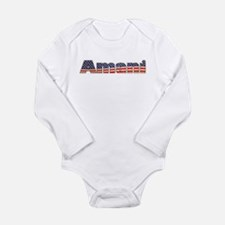 American Amani Long Sleeve Infant Bodysuit
