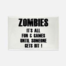 Zombies Fun and Games Rectangle Magnet (10 pack)