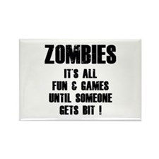 Zombies Fun and Games Rectangle Magnet (100 pack)