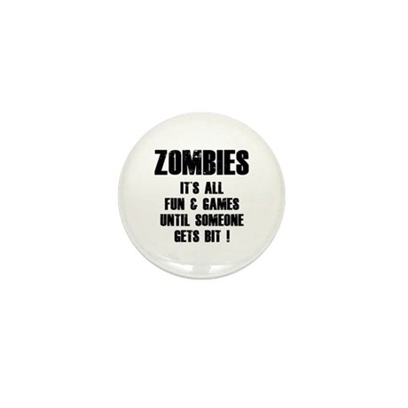Zombies Fun and Games Mini Button (10 pack)