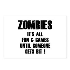 Zombies Fun and Games Postcards (Package of 8)