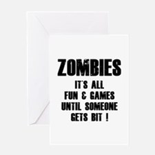 Zombies Fun and Games Greeting Card