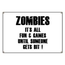 Zombies Fun and Games Banner
