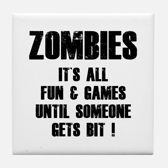 Zombies Fun and Games Tile Coaster