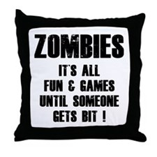 Zombies Fun and Games Throw Pillow