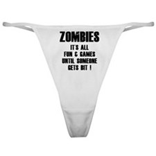 Zombies Fun and Games Classic Thong