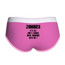 Zombies Fun and Games Women's Boy Brief