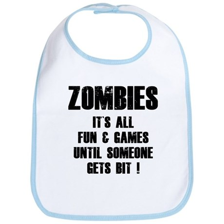 Zombies Fun and Games Bib