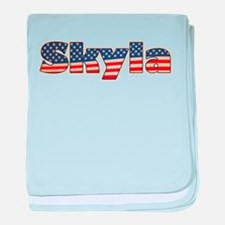 American Skyla baby blanket
