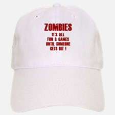 Zombies Fun and Games Baseball Baseball Cap