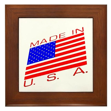 MADE IN U.S.A. CAMPAIGN XIII Framed Tile